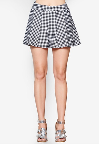 Hopeshow black and white Gingham Checkered Shorts 7A7E1AAD5B70FAGS_1