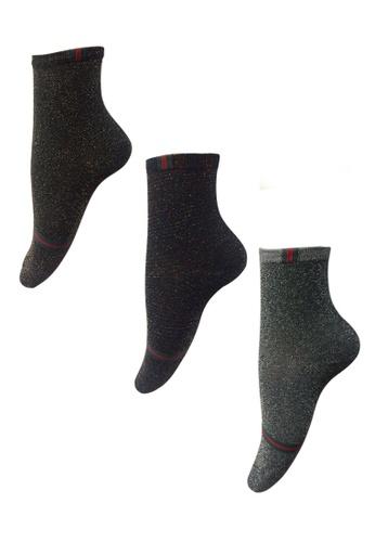 Chase Fashion multi G Stripe Glitter Socks 84C5DAA8A9123BGS_1