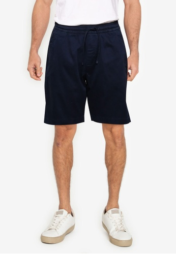 ABERCROMBIE & FITCH navy Pull On Shorts 3C17CAA308B65BGS_1