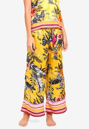 River Island yellow Floral Print Pyjama Trousers FA733AA51E3892GS_1