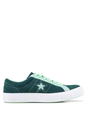 Converse green One Star Carnival Ox Sneakers 2F0D4SH4216F08GS_1