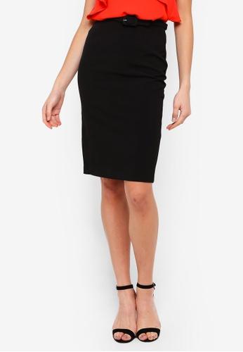 FORCAST black Rowan Belted Skirt BFB8BAA489BC4BGS_1
