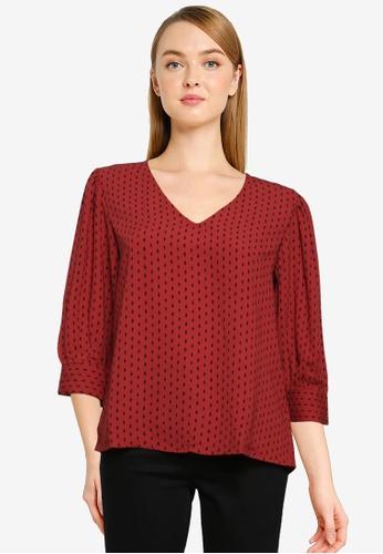 JACQUELINE DE YONG brown Barcelona Long Sleeve Top 2E338AA7B9ADB8GS_1