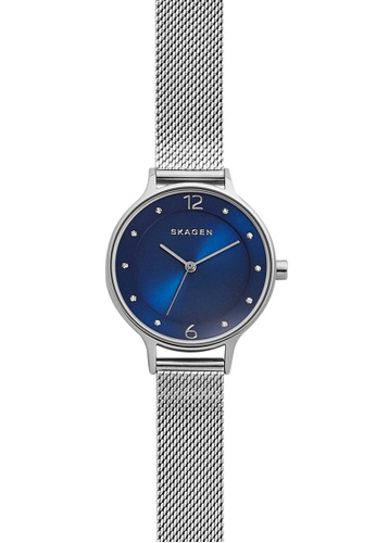Skagen blue and silver Skagen Anita Silver/Steel Stainless Steel Mesh Watch SKW2307 SK533AC00NGPMY_1