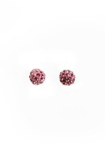 HEY SWEETY multi Crystal Ball Earrings HE303AC0J01JPH_1