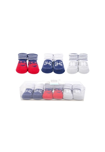 Little Kooma grey and red and blue Baby Boy Newborn Baby 3 Pairs Socks Set 58273 D1099KAAAD7DCBGS_1