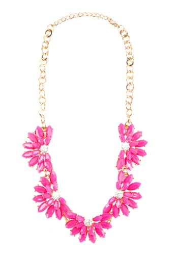 Zolace pink and multi and gold Blooming Season Necklace ZO350AC50AMRMY_1