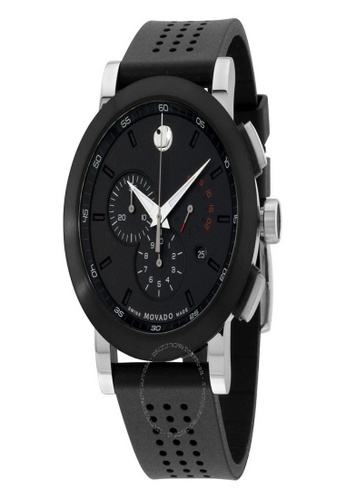 movado black and silver MOVADO Men's Museum Series Stainless Steel Watch 9E703AC96980BCGS_1