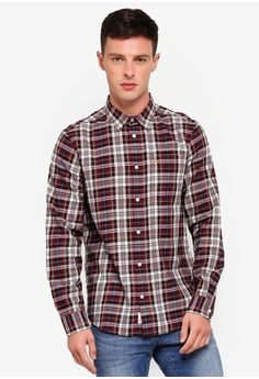 56c9ff3b89b86d Jack Wills red Salcombe Flannel Texture Shirt C3EB8AAC050C00GS 1