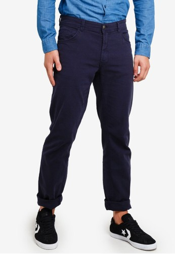 OVS blue Regular Fit Casual Chino Trousers 1F43CAAB5FBB93GS_1