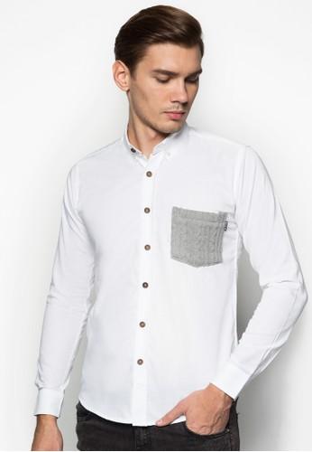 針織口袋牛esprit 內衣津長袖襯衫, 服飾, 服飾