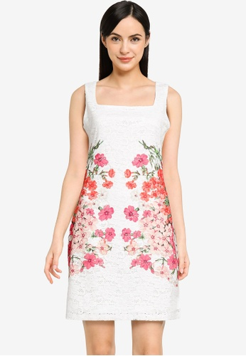 Desigual white Lace and Flowers Short Dress 1CFF9AAFCCED9CGS_1