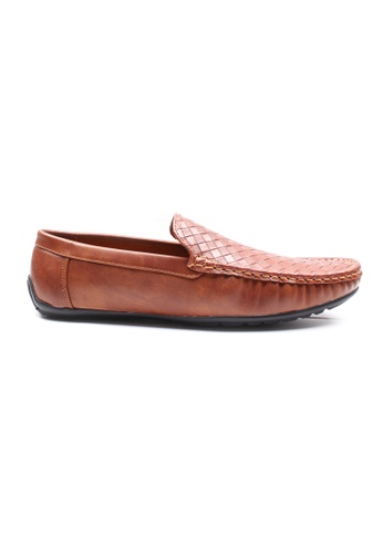 Moley brown Weave Pattern Loafers 7B7EBSH4350772GS_1