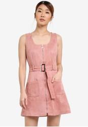 Something Borrowed pink Sleeveless Patch Pocket Dress 25019AA591491FGS_1