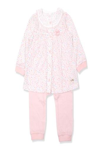 Organic mom pink Organic Cotton Fenny Floral Lightweight Long Sleeves Pjs AA85EKA159DED5GS_1