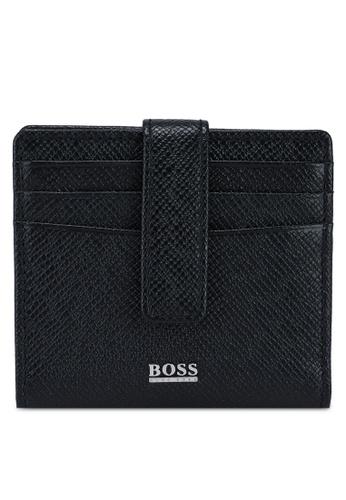BOSS black Signature Card Holder - BOSS Accessories B3D64AC7B77D69GS_1
