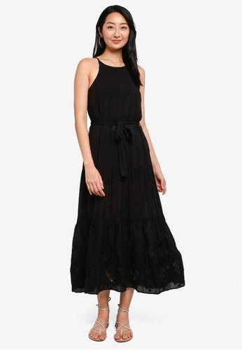 Desigual black Halterneck Lace Midi Dress 0EC2DAA179D0CCGS_1