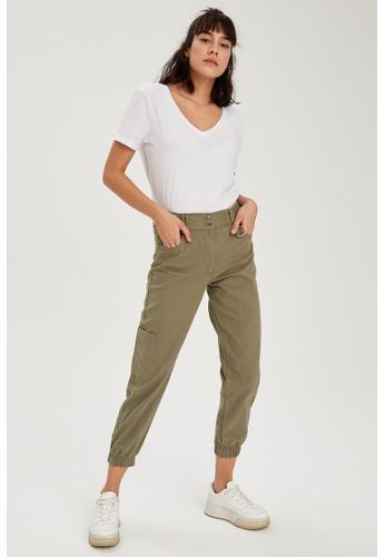 DeFacto green Woman Woven Trouser 513E9AA91A7017GS_1