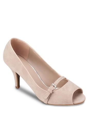 露趾細esprit台灣跟高跟鞋, 女鞋, 魚口鞋