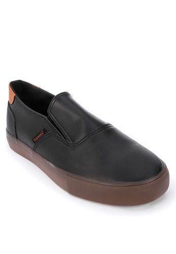 Sonnix black Dartford Slip On Sneakers F5AF3SHF716E30GS_1