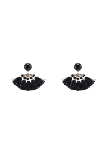 Red's Revenge black Onyx Gem Fringe Dangle Earrings D7280AC0D090D2GS_1