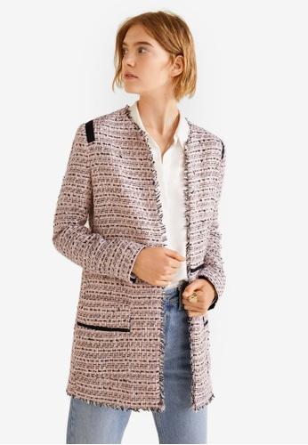 Buy MANGO Pocket Tweed Jacket   ZALORA HK a02b0849314d