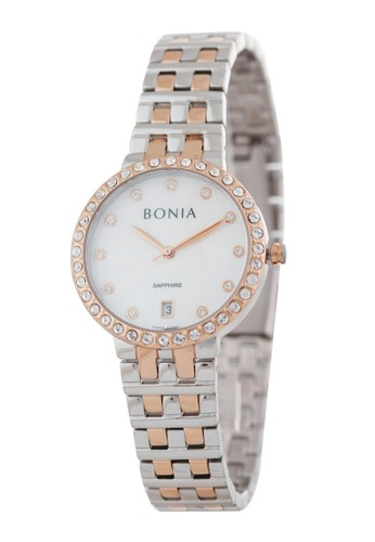 BONIA silver Bonia B10392-2657 - Jam Tangan Wanita - Silver Rosegold 6FE49AC1D565EFGS_1