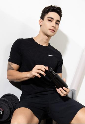 Nike black Dri-FIT Miler Running Top BEFC3AACCC4761GS_1