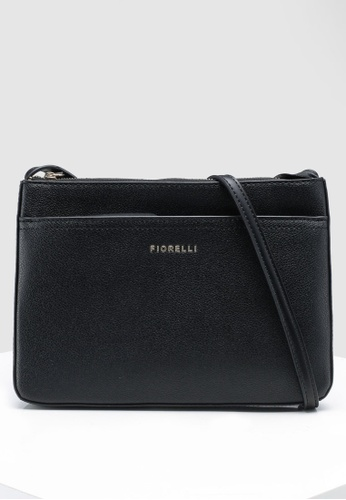 Fiorelli black Betty Flat Grain Crossbody CF374AC0FBAD06GS_1