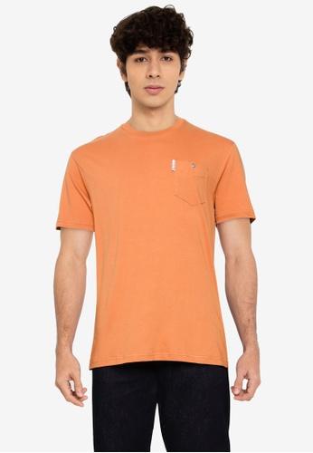Ben Sherman orange Signature Pocket Tee 76EE7AA677453DGS_1