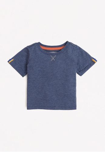 Gingersnaps blue Baby Boys Fold-Up Sleeves T-Shirt F5939KA23B24F5GS_1