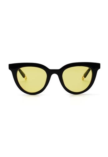 Kyfer's Eyewear & Essentials black and yellow Oval Cat Eye Sunglasses KY376AC0GE31SG_1