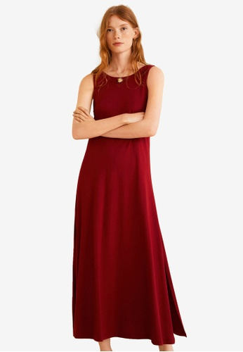 Mango red Embroidered Cotton Dress 7EEF3AAB643C51GS_1