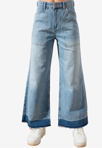 Trendyol blue High Waist Detailed Hem Jeans B0271AAC79ED5AGS_1