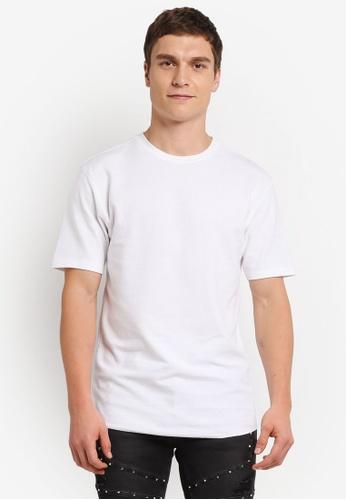 Topman white Short Sleeve White Waffle T-Shirts TO413AA0SJKWMY_1