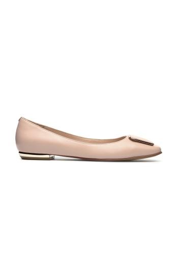 Byford pink Dial Square Toe Flats 4630FSHF622131GS_1