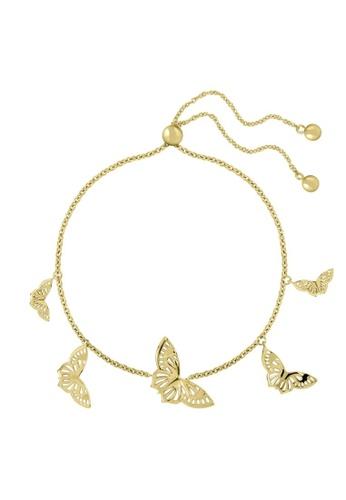 Sara Miller gold Sara Miller London -Kew - Butterfly Charm Bracelet (Gold) (SAJ3002) 3239EAC1410C42GS_1