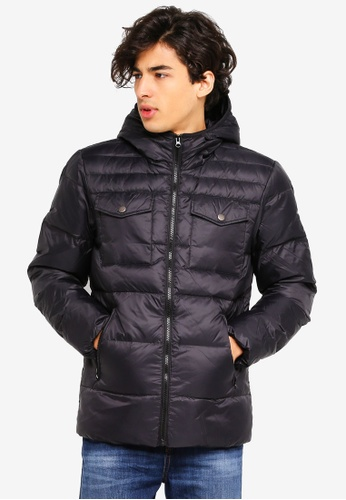 United Colors of Benetton black Lightweight Down Jacket 46A85AAB82F108GS_1