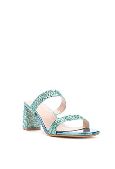 03147339c1 50% OFF Chloe Edit Metallic Strappy Block Heel Slides High Heels Php  2,099.00 NOW Php 1,049.00 Sizes 37 38 39