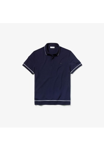 ffee340b7f Men's Lacoste Regular Fit Piped Stretch Cotton Mini Piqué Polo  Shirt-PH4275-10