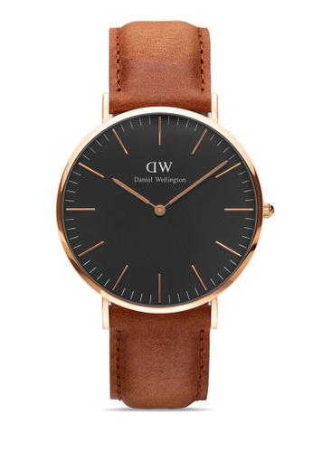 Daniel Wellington white and brown Classic Durham Black 40mm Rose Gold Watch 0C848AC7800537GS_1