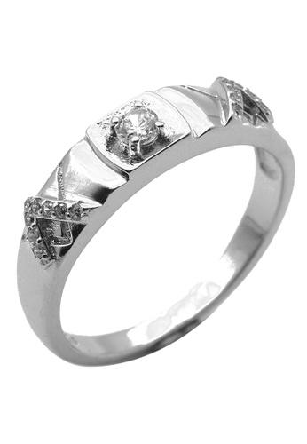 Elfi silver Elfi 925 Genuine Silver Engagement Ring P35 - The Greatness EL186AC0SZHEMY_1