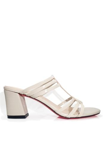 Twenty Eight Shoes 米褐色 羅馬式粗高跟涼鞋 VS1721 90954SHCDA1559GS_1