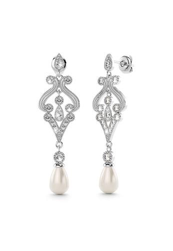 Annie Bloom white ANNIE BLOOM Cleo Bloom Earrings Clear 0F302ACF83ED80GS_1
