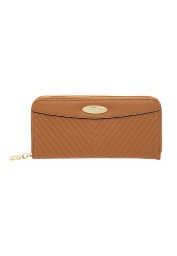 British Polo brown British Polo Dwyne Zipper Wallet 5BE94AC5D9C2F7GS_1
