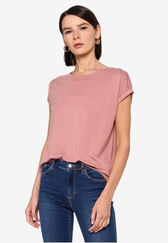 Vero Moda pink Lava Plain Top 1EF40AA349EAF8GS_1