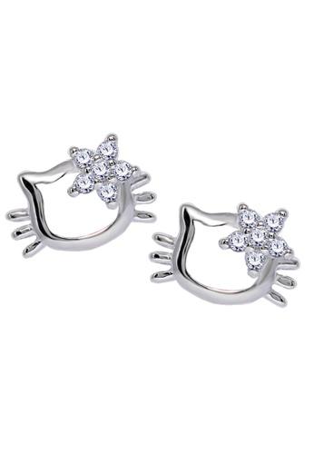ca688b0a5 SC Tom Silver silver Hello Kitty Stud Stone Earrings-ESS008 SC872AC0IVZ8PH_1