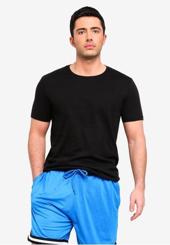 Factorie 黑色 Longline T Shirt 60F38AAF8E58E0GS_1