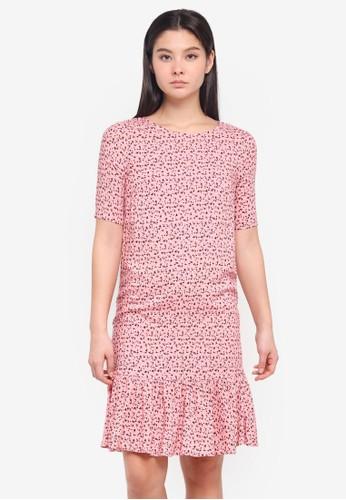 ICHI pink Rose Dress 05CB7AACC13C55GS_1