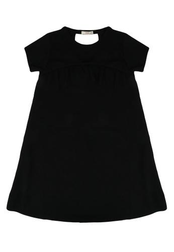 FOX Kids & Baby black Jersey Dress with Ruffles 8F11FKAF297D00GS_1
